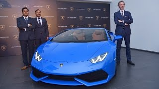 The Huracan LP 610-4 Spyder has been launched by Lamborghini in India at Rs.3.89 crore. The Huracan variant to be launched in India, this particular version made its global debut at the 2015 Frankfurt Motor Show. Just like the 610-4, the Spyder too is powered by a naturally aspirated 5.2-litre V10 engine, which produces a peak power of 610HP and a peak torque of 560Nm. Power from the engine is sourced to all the wheels via a dual clutch seven-speed transmission. With all power behind it, the Spyder has a top speed of 324kmph and can reach 0 to 100 in just 3.4 seconds. The Spyder is actually a convertible with a soft top which can be operated at a maximum speed of 50kmph and takes only 18 seconds to raise or lower. Currently the Huracan series constitutes about 20 percent of all Lamborghinis sold in India. With the launch of the Huracan Spyder this number is slated to go up a bit.
