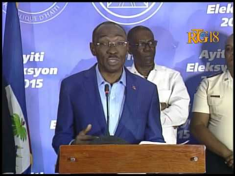 update on the progress of the election day in Haiti.