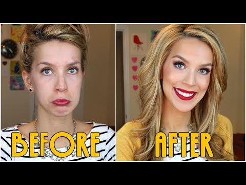 RED LIPS + BIG HAIR Get Ready With Me!