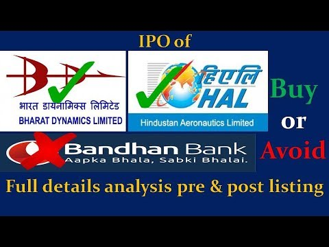 IPO : Hindustan Aeronautics Ltd, Bandhan Bank and Bharat Dynamics Ltd : Apply or Avoid.