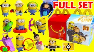 2017 Despicable Me 3 Minions McDonald's Happy Meal Toys Full Set