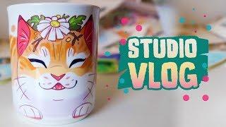 STUDIO VLOG 004 • Freelance week, cup kitten and birthday