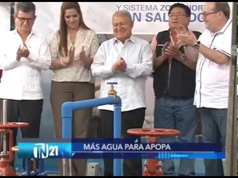 Presidente Sánchez Cerén y Marco Fortín inauguraron proyecto de agua potable en Apopa