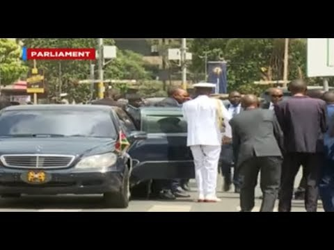 State Of The Nation: President Uhuru Kenyatta's Arrival At Parliament