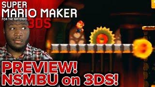 PREVIEW! - Super Mario Maker 3DS   New Super Mario Bros U Course on Mario Maker 3DS