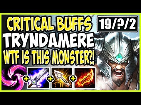 Reddit wtf - NEW CRITICAL BUFFS TRYNDAMERE! WTF IS THIS MONSTER? KILL THEM ALL! LoL Tryndamere Season 9 Gameplay