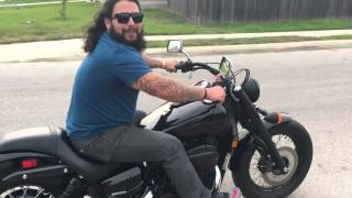 4. Harley Rider Trying Out My Honda Shadow Phantom