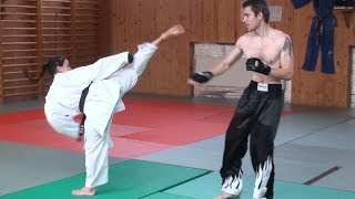 Karate Girl Vs Male StreetFighter - Real Fight