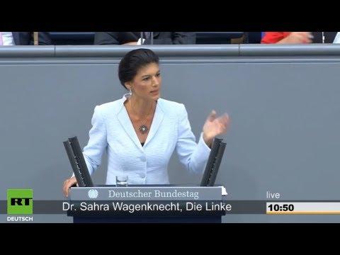 Вагенкнехт в хлам раскатала Меркель