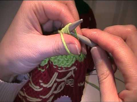 Kinder Erbeermütze stricken Teil 3
