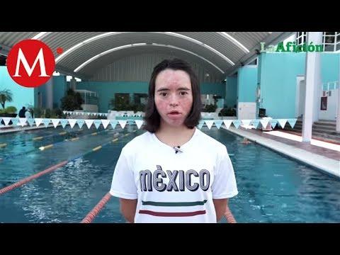 Dunia Camacho, nadadora con síndrome de down que ganó medallas de oro