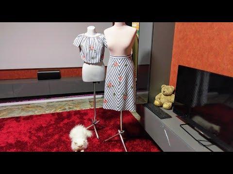 Анонс урока. Юбка клиньями в полоску - DomaVideo.Ru