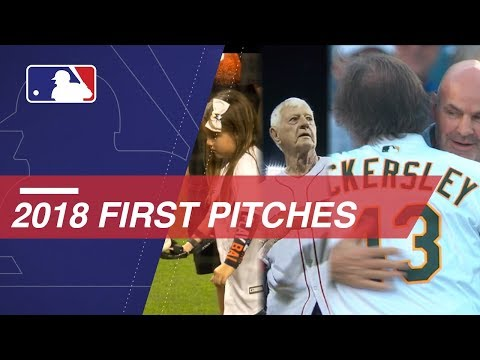 Video: First pitches throughout the 2018 MLB season
