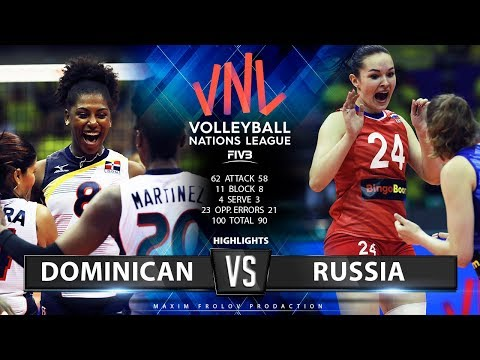 Dominican Vs. Russia | Highlights | Women's VNL 2019