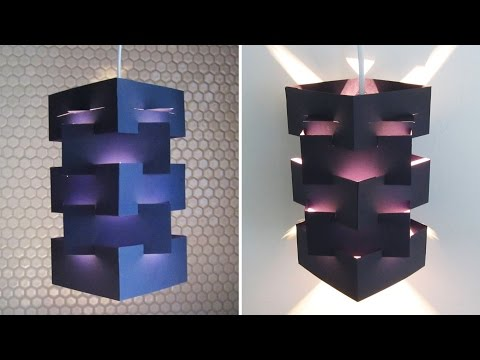 DIY lamp for pendant light - learn how to make a lampshade/lantern for hanging lights - EzyCraft