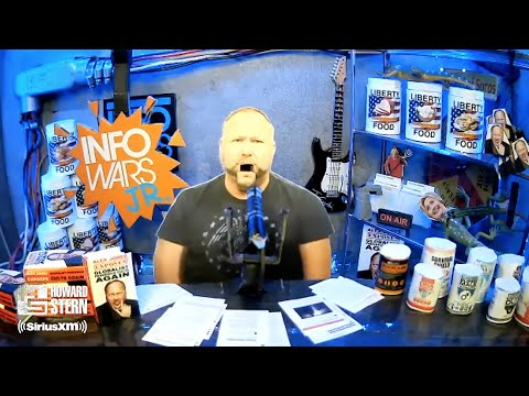 """Alex Jones"" Gives a Tour of His Bunker and Debuts ""Info Wars Jr."""