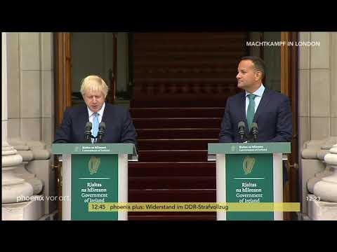 Brexit: Pressekonferenz mit Boris Johnson und Leo Var ...