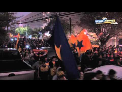 Barra de Tigres llegó en caravana al Tec - Libres y Lokos - Tigres