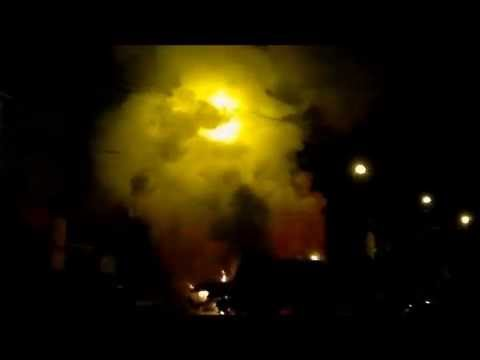 Incêndio na Rua Helmuth Schmidt, Cerro Largo, RS, Brasil