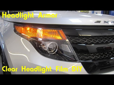 Clear Headlight Protection Tint Kit Install DIY -Ford Explorer – Headlight Armor