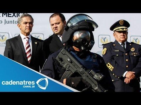 GDF entrega nuevos uniformes y armamento a policías capitalinos