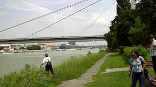 Bratislava - Donau und Burg Hrad