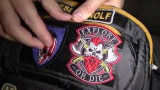 We show you how we add hook and loop to bags without it so you can display patches.
