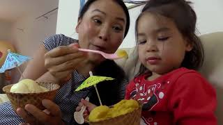 Video Baby girl learn colors with ice cream and Finger pint truck finger family nursery MP3, 3GP, MP4, WEBM, AVI, FLV Agustus 2018