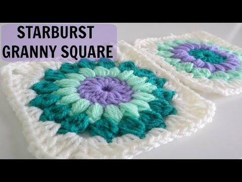 uncinetto - come realizzare un motivo starburst