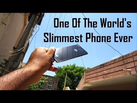 World's slimmest mobile phone ever 2018 | Micromax Canvas Sliver 5 Q450 Black Colour