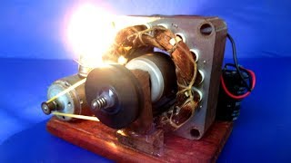 Handmade Universal Free energy generator 220V DC motor with Light Bulb - Easy DIY at home