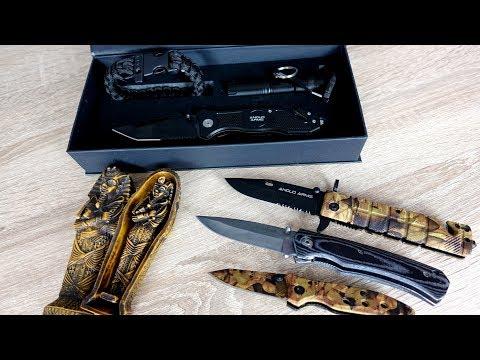 Günstiges Messerset und 3 weitere Einhand Messer von Amazon - Unboxing und Review