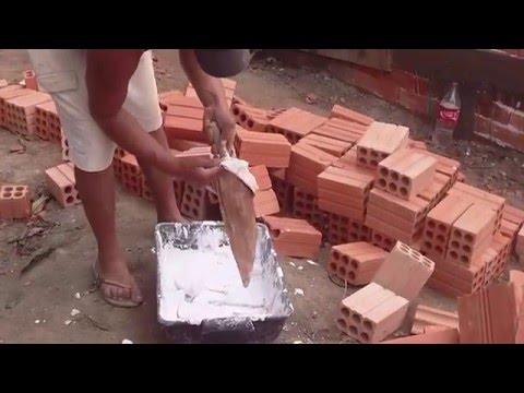 assentamento de tijolos - NOVA TÉCNOLOGIA NO PROCESSO CONSTRUTIVO,30% DE ECONOMIA,SEM DESPERDICIO ,OBRA MAIS LIMPA E COM MENOS PESO DE FACIL APLICAÇÃO.www.maiarevestimentos.com.br 41 ...