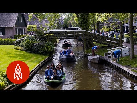 Getting Around Town by Boat in Holland