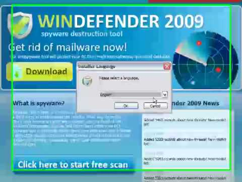 0 WinDefender 2009 Analysis and Removal