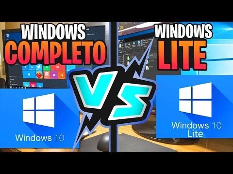 Windows 10 VS Windows 10 Lite  / Cual es Mejor Windows ? / MiniOS /2018