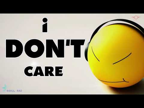 I Don't Care Attitude Motivational Whatsapp Status | Famous English Quotes 2019