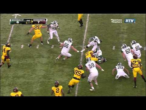 Brock Vereen interception vs Michigan St. 2012 video.
