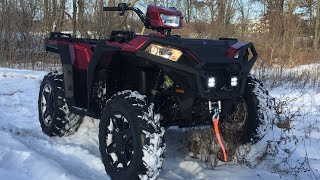 6. Sportsman 850 SP snow ripping