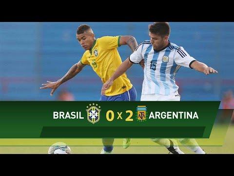 Sub-20: Confira os lances de Brasil x Argentina pelo Sul-Americano