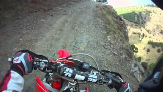8. Enduro riding up a mountain on a Honda CRF 450-X