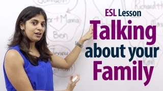 Spoken English Lessons - Niharika ( ESL ) - How To Talk About Your Family? - English Lesson ( Free E