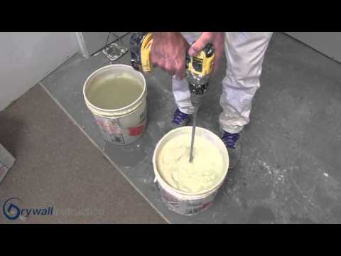 Mixing taping mud - Drywall Instruction