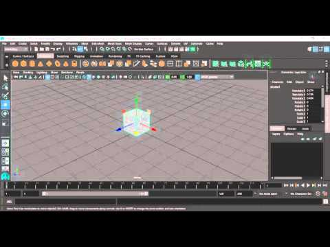 6- Maya  move and scale التحريك والتكبير