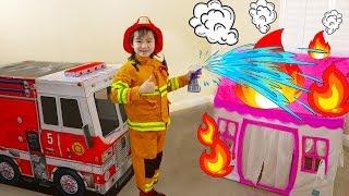 Video Jannie Pretend Play Rescue w/ Fire Engine Truck Ride-On Toys MP3, 3GP, MP4, WEBM, AVI, FLV Maret 2019