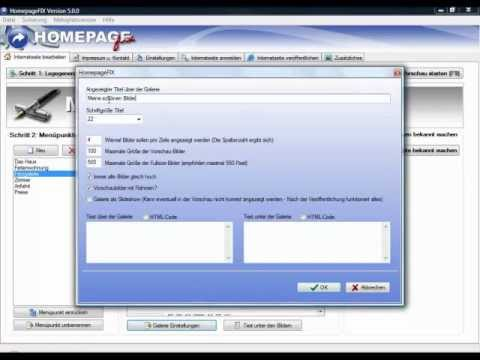 eigene Homepage erstellen mit HomepageFIX