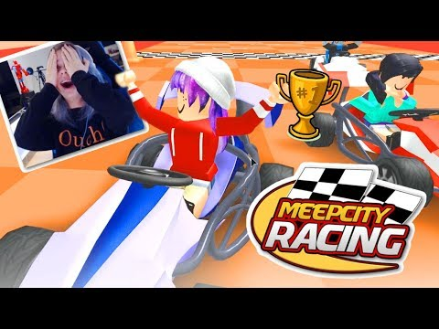 ROBLOX MEEP CITY RACING! | RADIOJH GAMES