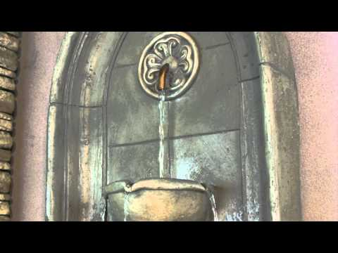 Video for Canterbury Cement Wall Fountain