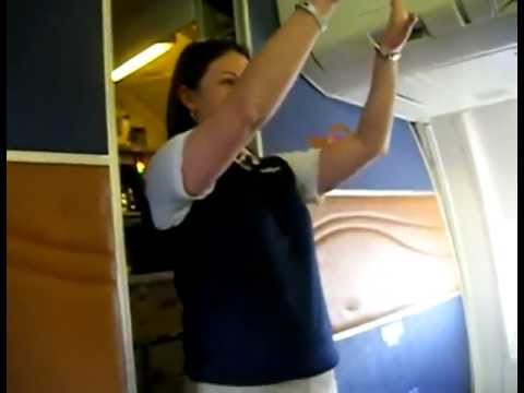 air steward - Now this is how you get people to pay attention during the in-flight safety instructions. Just Dance Flight Attendant: http://www.youtube.com/watch?v=VoE1J4m...
