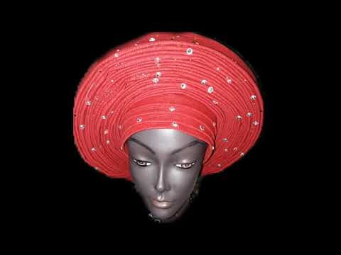 Ready To Wear Gele Headwrap Pre-Tied Auto-Gele African Nigerian Fashion